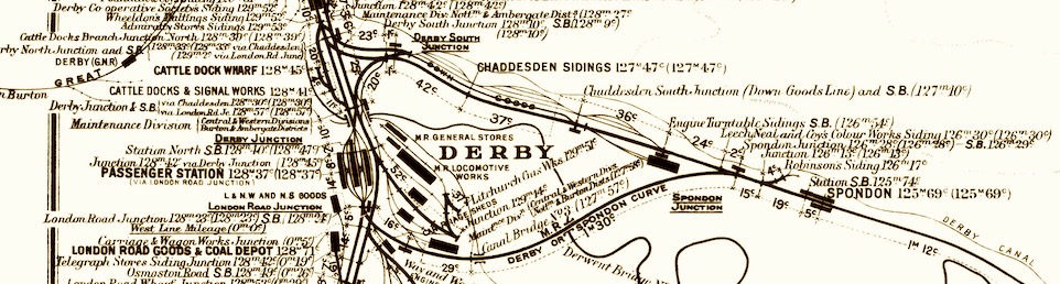 Extract from the MR Distance Diagram for Derby