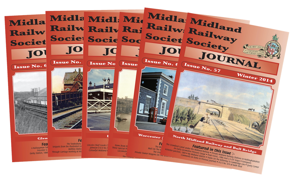 A seclecton of past covers of the Midland Railway Society Journal
