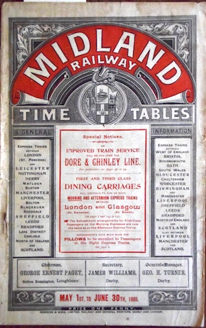Midland Railway Timetable Finding Aid